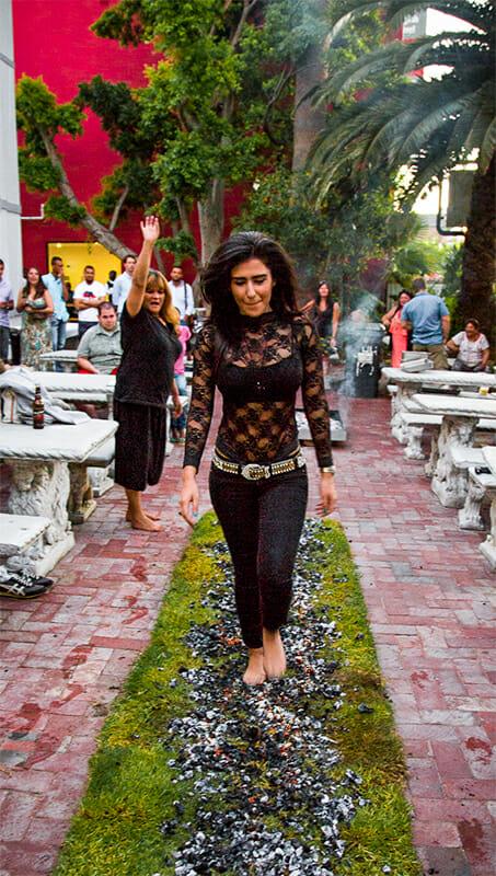 Melika Ravazi Fire Walk