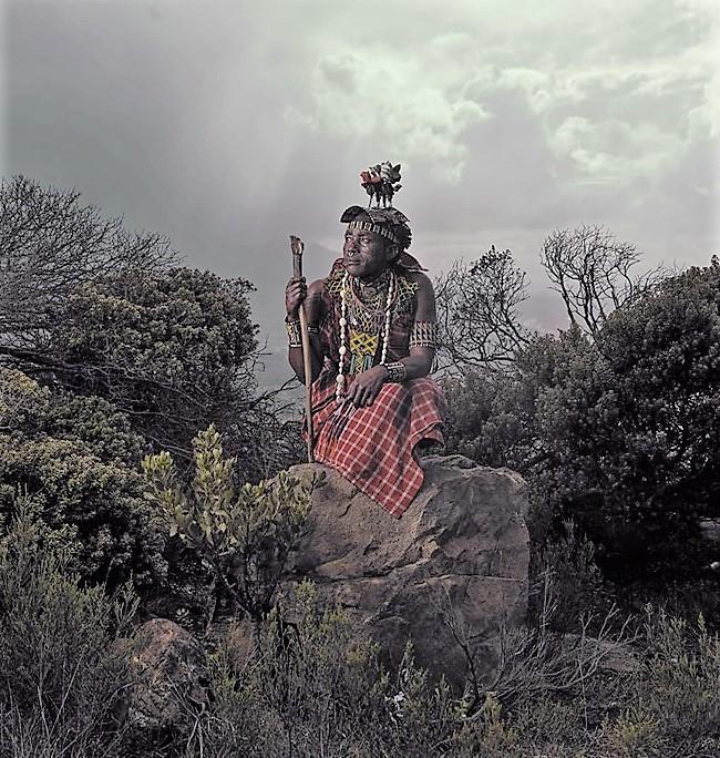Felix Chughuda in the bush